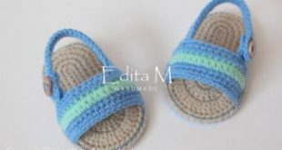 Crochet baby sandals, gladiator sandals, 0-3, 3-6, 6-9 months, unisex baby booties, baby shoes, baby slippers, flip flops, summer, beach