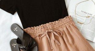 Lulus   Coconut Tree Nude Drawstring Shorts   Size Large   Beige   100% Rayon