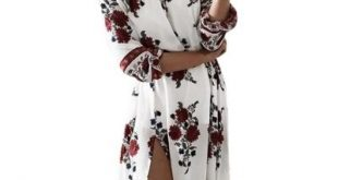 off Shoulder Floral Printed High Slit Maxi Dress