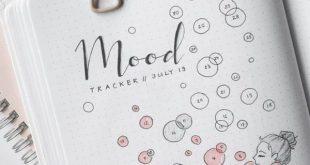 30 Beste August Mood Tracker Ideen z. Hd. Bullet Journals #august #beste #bullet...
