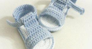 Ähnliche Artikel wie Häkeln Baby Sandalen, Gehäkelte Babyschuhe, Sommerschuhe...