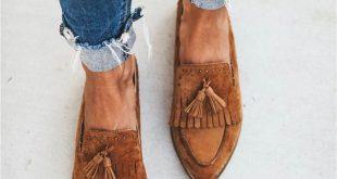 Ladies Fashion Tassel Flat Slippers