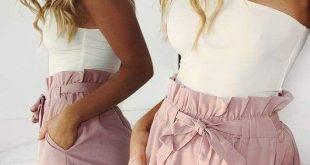 Strand-Hotpants-Sommer-Shorts Strand-Shorts mit hoher Taille Damen-Shorts - Bottoms