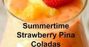 Summertime Strawberry Pina Coladas - Idea Delicious