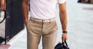 Weißes Poloshirt Outfit Ideen für Männer #poloshirt #shirt #outfitideas #mensfashio