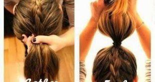 lange Haarmodelle - Zöpfe sind Frisuren für jeden Anlass. Lässige Tagesschule...